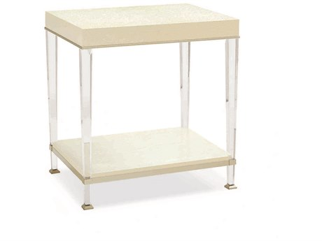 Caracole Classic Birdseye Ivory 26''W x 20''D Rectangular End Table