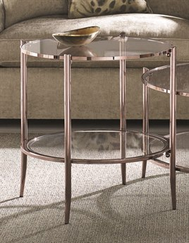Caracole Classic Rosegold Blush 24'' Wide Round End Table CACCLA016413