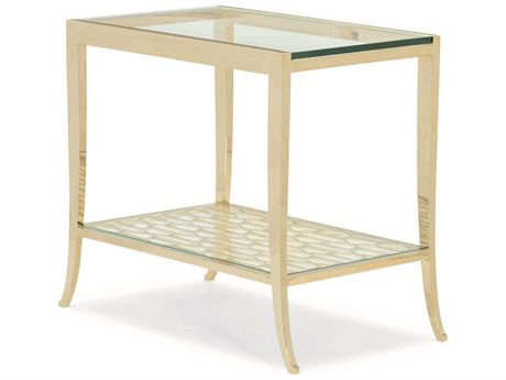 Caracole Classic Whisper of Gold 32''W x 18''D Rectangular End Table