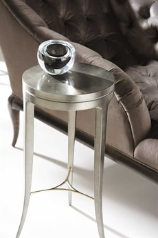 Caracole Classic Perfect Balance Smoldering Leaf 14'' Wide Round End Table