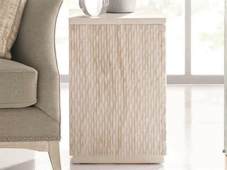 Caracole Classic White Marble 16''Wide Square End Table