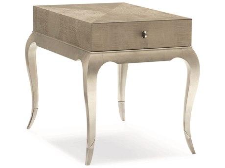 Caracole Classic Moonlit Sand / Soft Silver Leaf 23''W x 31''D Rectangular End Table