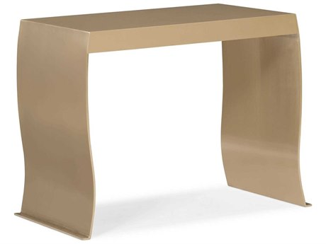 Caracole Classic Champagne Gold 12'' Wide Rectangular End Table
