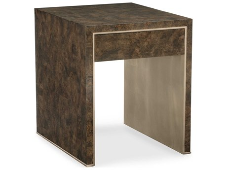 Caracole Classic Galway Burl / Golden Blonde Leaf 20'' Wide Rectangular End Table