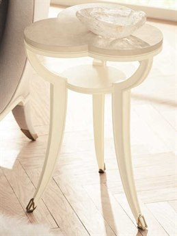 Caracole Classic Platinum Blonde / Ivory 16'' Wide End Table
