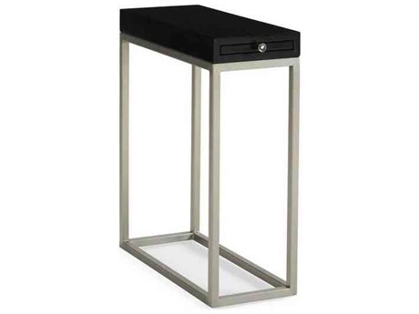 Caracole Classic Tuxedo Black / Brushed Silver 9''W x 21''D Rectangular End Table