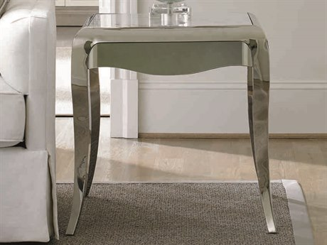 Caracole Classic White Marble / Polished Silver 24'' Wide Square End Table