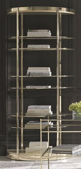 Caracole Classic Auric Silver Leaf / Whisper of Gold Half Moon Etagere CACCLA016811