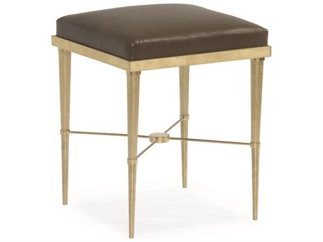 Caracole Classic Brown / Champagne Gold Ottoman CACCLA015081