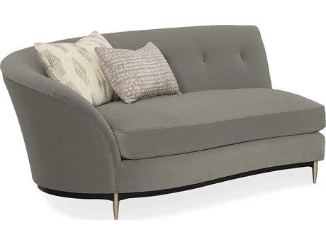 Caracole Classic Soft Shadow Grey Loveseat Sofa