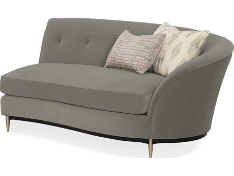 Caracole Classic Soft Shadow Grey Loveseat Sofa