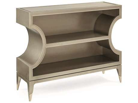 Caracole Classic Taupe/ Whisper of Gold Hall Chest Bookcase CACCLA016483