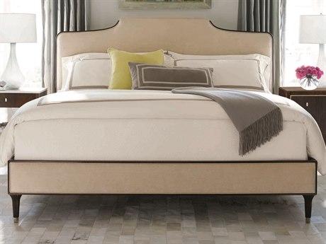 Caracole Classic Cream / Espresso Bean King Size Platform Bed CACTRAKINBED023