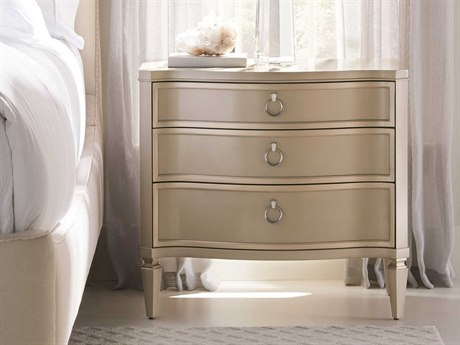 Caracole Classic Next To Me Radiant Pearl / Sparkling Argent 32''W x 18''D Rectangular Nightstand CACCLA017066