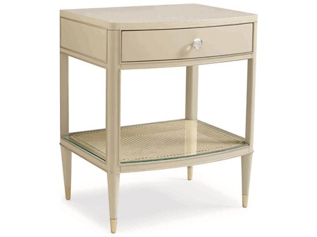 Caracole Classic Soft Taupe 24''W x 19''D Rectangular Nightstand