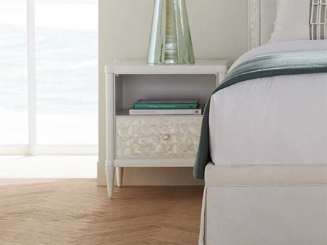 Caracole Classic Oyster One-Drawer Nightstand