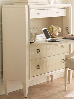 Caracole Classic Ivory / Gold Blonde Leaf Secretary Desk