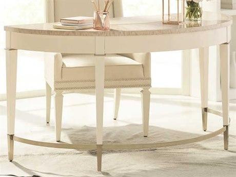 Caracole Classic Ivory / Platinum Blonde Burl Secretary Desk