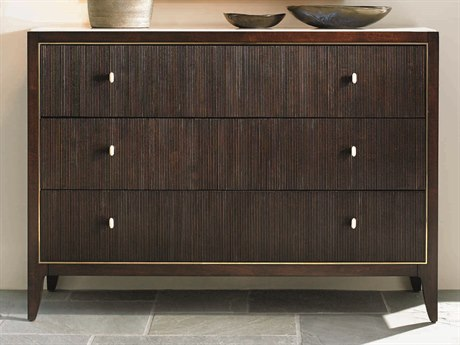 Caracole Classic Reeded Fronts Espresso Bean / Grain Mahogany Three-Drawer Single Dresser CACTRACLOSTO047
