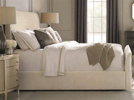Caracole Classic Cream Horizontal Quilting Queen Size Sleigh Bed CACCLA016106
