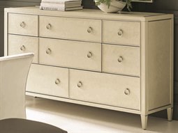 Classic Pure Ivory / Sheer Ecru with Soft Radiance Eight-Drawer Triple Dresser