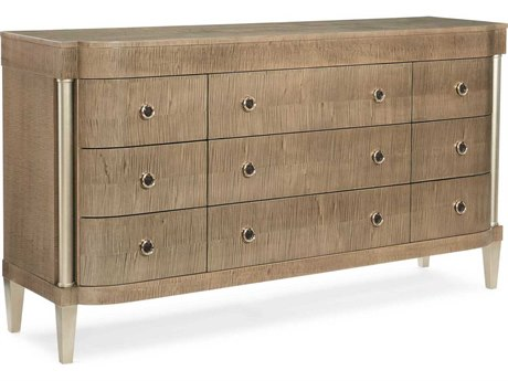 Caracole Classic Everywhere to Go Toasted Sycamore / Afterglow Nine- Drawer Triple Dresser CACCLA017033