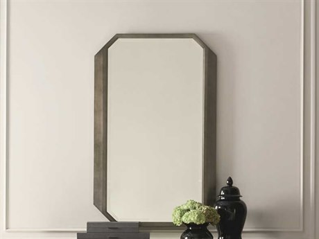 Caracole Classic Cutting Corners Smoldering Leaf 54''W x 34''H Rectangular Wall Mirror CACCLA017047