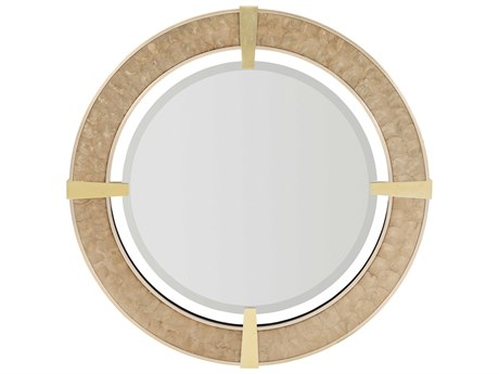 Caracole Classic Warm Reflections / Capiz Shell 38'' Wide Wall Mirror CACCLA018041