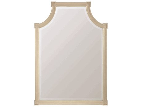 Caracole Classic Taupe Silver Leaf 37''W x 52''H Wall Mirror CACCLA417045
