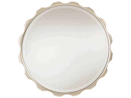 Caracole Classic Soft Silver Leaf 29'' Wide Round Wall Mirror CACCLA417049