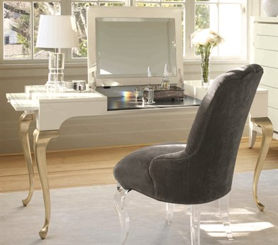 Caracole Classic White with Gold Vanity CACCONCONTAB009