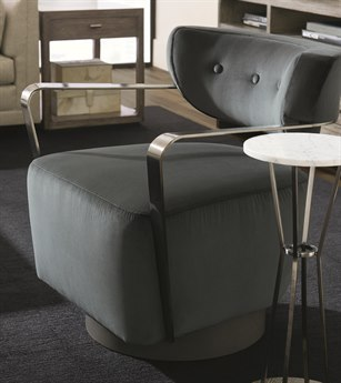 Caracole Modern Fusion Black Swivel Accent Chair