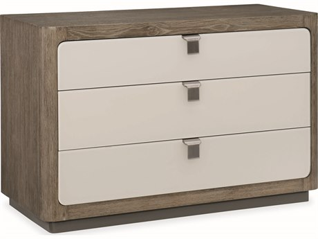 Caracole Modern Fusion Ashen Oak with Delicate Grey Glass Cerused Accent Cabinet CAMM051017461