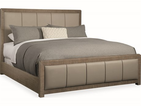 Caracole Modern Fusion Brown King Size Panel Bed CAMM053017121