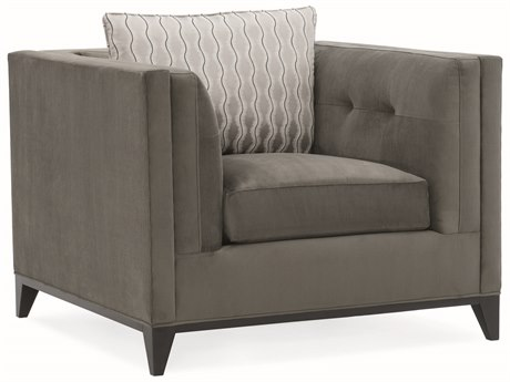 Caracole Modern Grace Flannel Grey Accent Chair CAMM080418031A