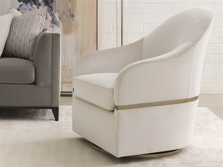 Caracole Modern Grace Lustrous Pearl Swivel Accent Chair CAMM080418033A
