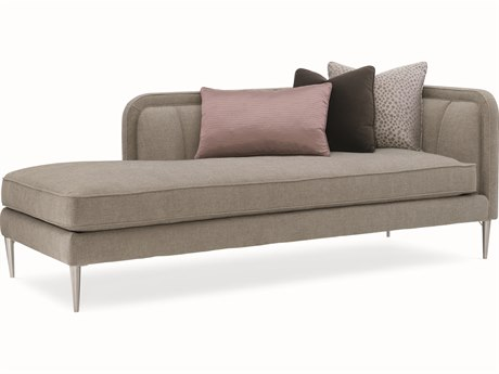 Caracole Modern Grace French Grey Tranquil Chaise Lounge CAMM080418LH1A