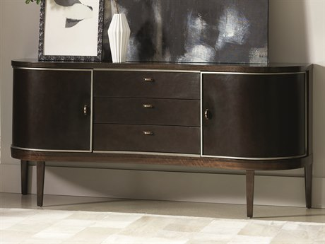 Caracole Modern Streamline Aged Bourbon with Smoked Brass 72''W x 19''D Rectangular Sideboard CAMM022417214