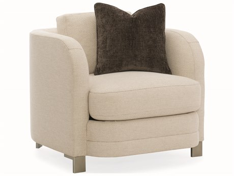 Caracole Modern Streamline Beige Accent Chair