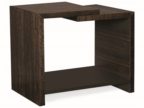 Caracole Modern Streamline Aged Bourbon with Dark Chocolate 30''W x 20''D Rectangular End Table