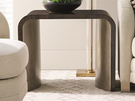 Caracole Modern Streamline Aged Bourbon 30''W x 22''D Rectangular Waterfall End Table