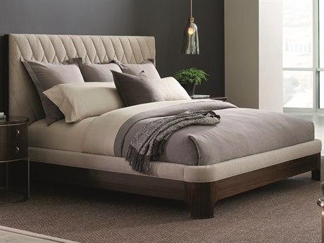 Caracole Modern Streamline Beige Queen Size Platform Bed CAMM023417101