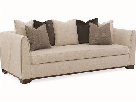 Caracole Modern Streamline Beige Sofa