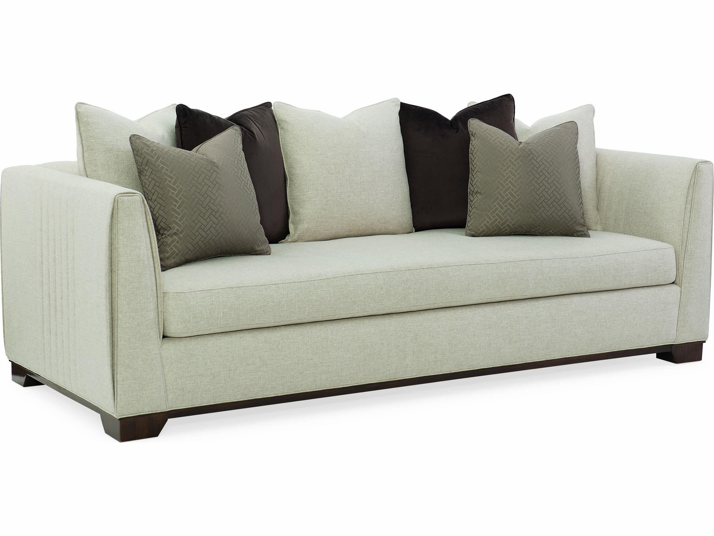 Incredible Caracole Modern Streamline Beige Sofa Bralicious Painted Fabric Chair Ideas Braliciousco