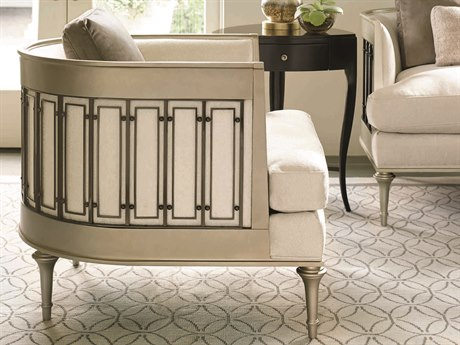 Caracole Classic White / Grey Accent Chair CACUPH015231A