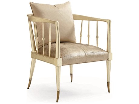Caracole Classic Brilliant Gold Accent Chair CACUPH416136L