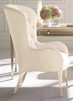 Caracole Classic Cream Tufted Wingback Accent Chair CACUPH417035A