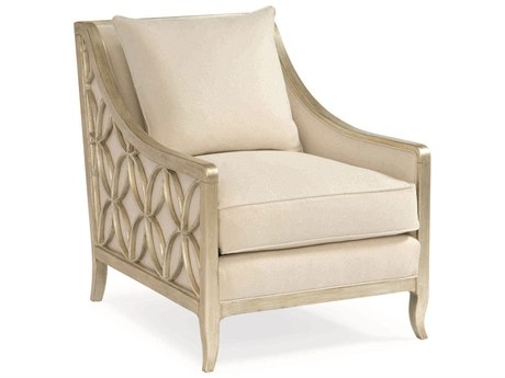 Caracole Classic Ivory / Pure Silver Accent Chair CACUPHCHALOU02D