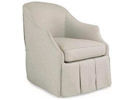 Caracole Classic Grey Skirted Swivel Accent Chair CACUPHCHALOU65A