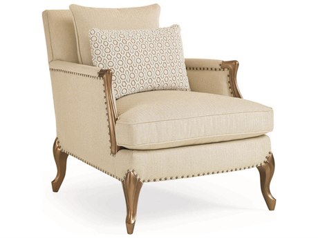 Caracole Classic Soft Bisque / Mineral French Accent Chair CACUPHCHAWOO48B